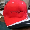 Hat with airplane logo