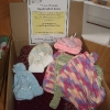 Box of knitted items donated to Catskill Regional Medical Center for Christmas