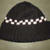 Cap, knitted with cotton yarn